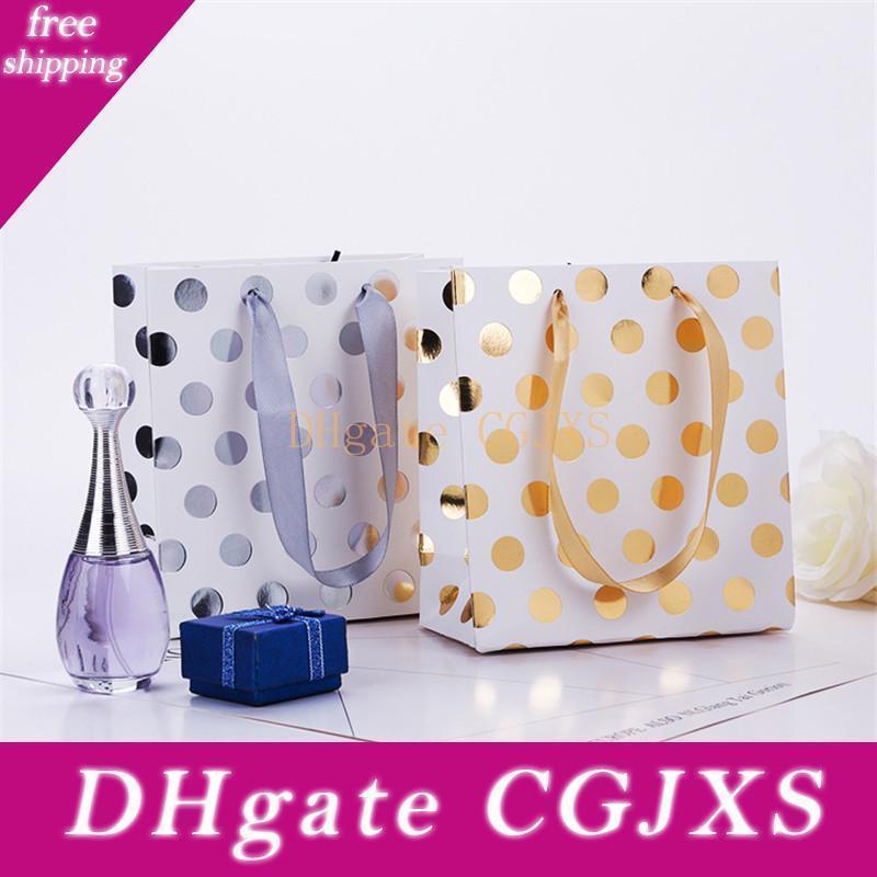 Forniture Nuovo Bronzing Dots alta -end estetiche Abbigliamento Paper Bag Wedding Lz1134