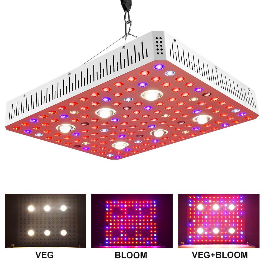 O espectro completo 1000W 2000W 3000W COB LED cresce lâmpada de luz de plantas claras para plantas internas de estufa crescer