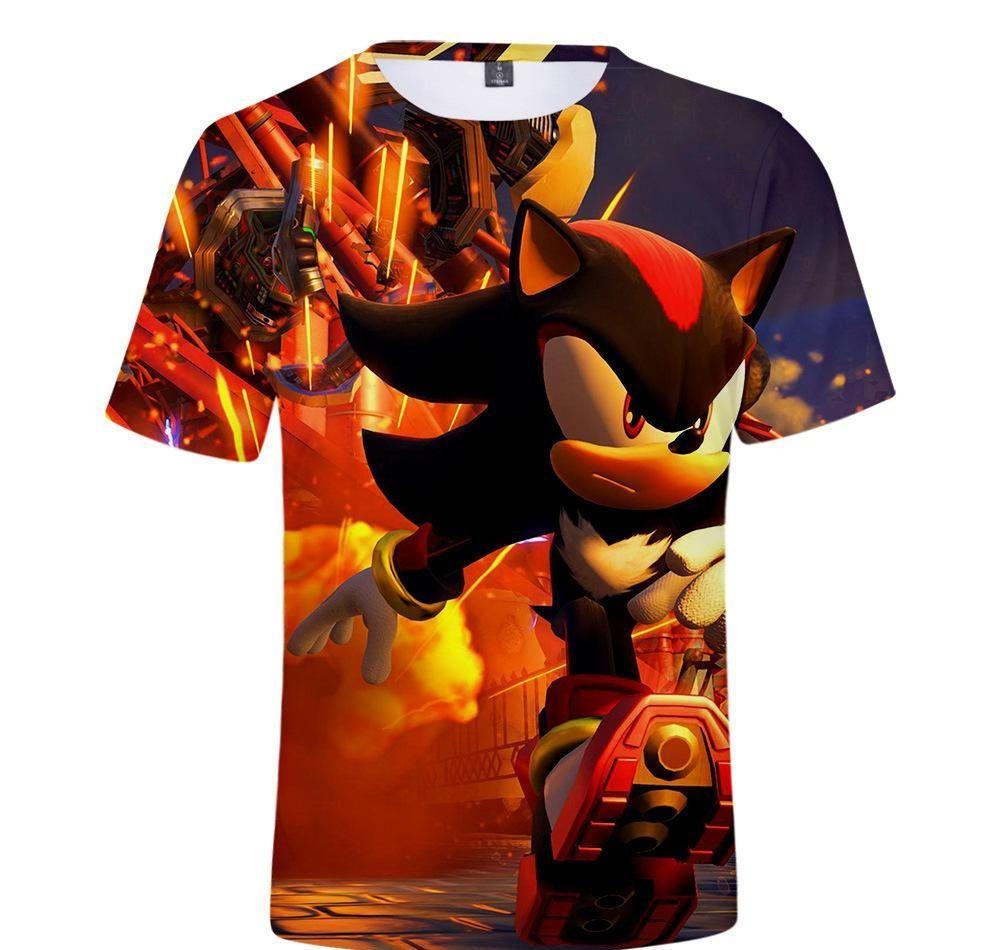 Sonic 3D Men Shirts Unisex Spring Summer Boy Print O-Neck T-Shirt Loose Women Tops Lady Tshirt Anime T-shirt MX200509