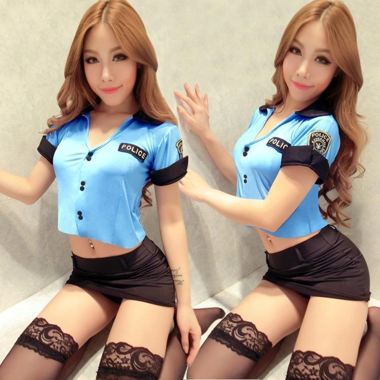 Сексуальное искушение женщина полиции КТВ нижнее белье униформа полиции действует равномерный этап KTV20116