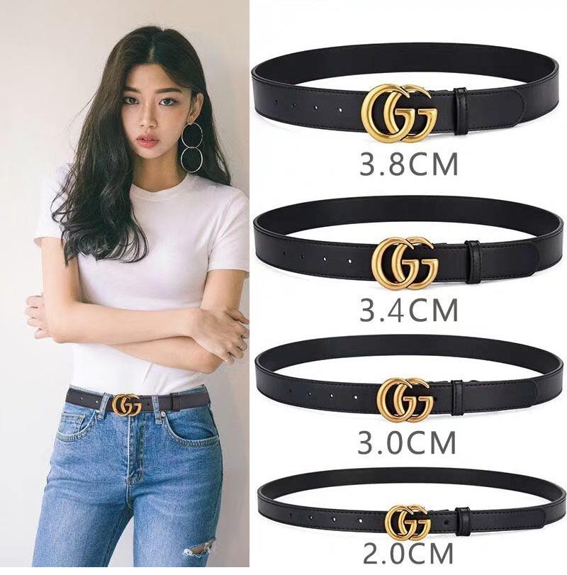 H1356 Роскошные высокого качества дизайнер пояса моды для мужчин и женщин золотые пряжки черного пояса. 2.0,3.0,3.4,3.8cm широкий.