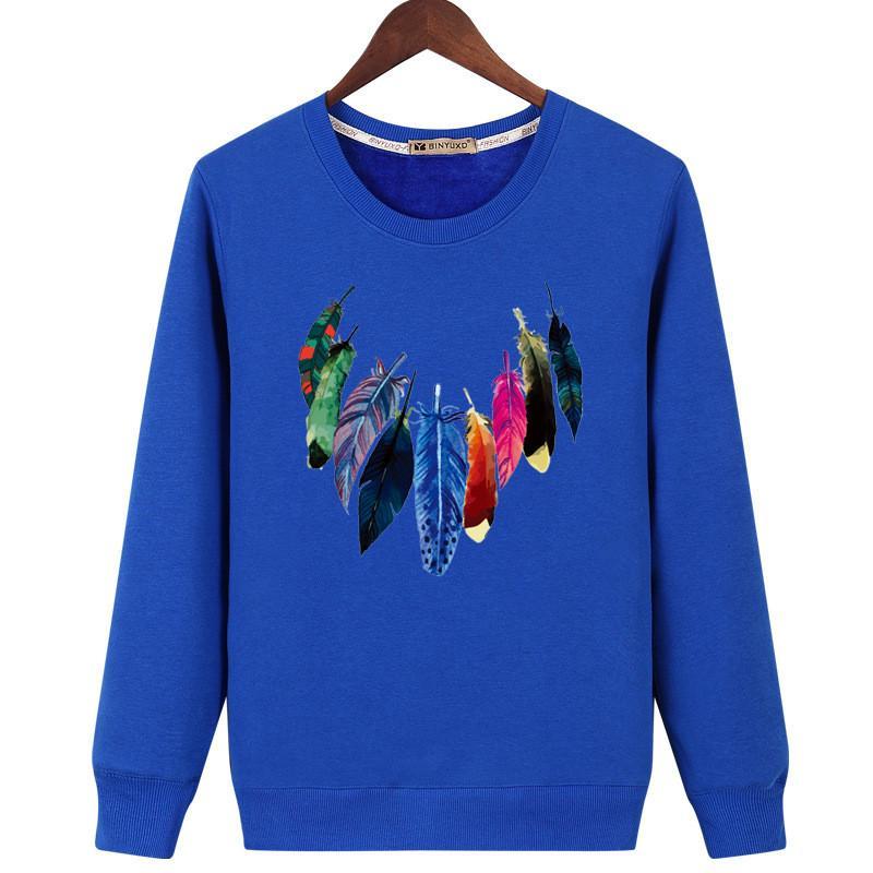 Mens Designer Hoodies Tshirt Autumn Winter Long Sleeve Crew Neck Print Thick Sweatshirts Tops Casual Male Clothing