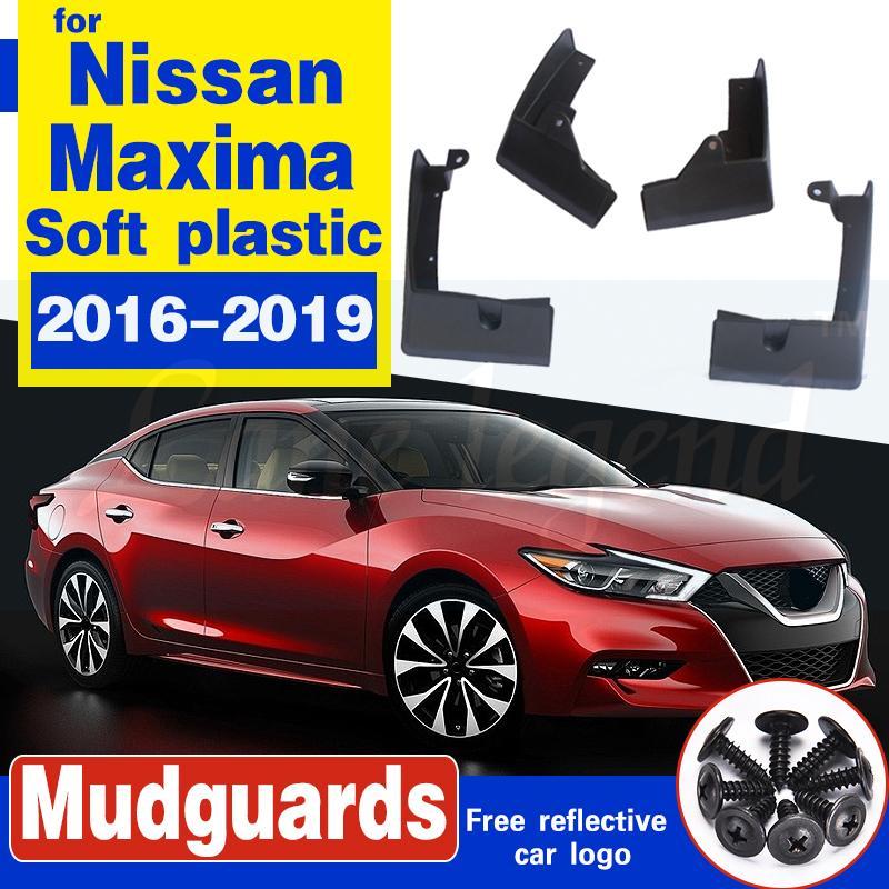 Auto Vorderrad Hinterrad-Schmutzfänger für Nissan Maxima 2016-2019 Fender Schlamm-Klappen-Spritzen-Schutz Kotflügel Autozubehör Weicher Kunststoff