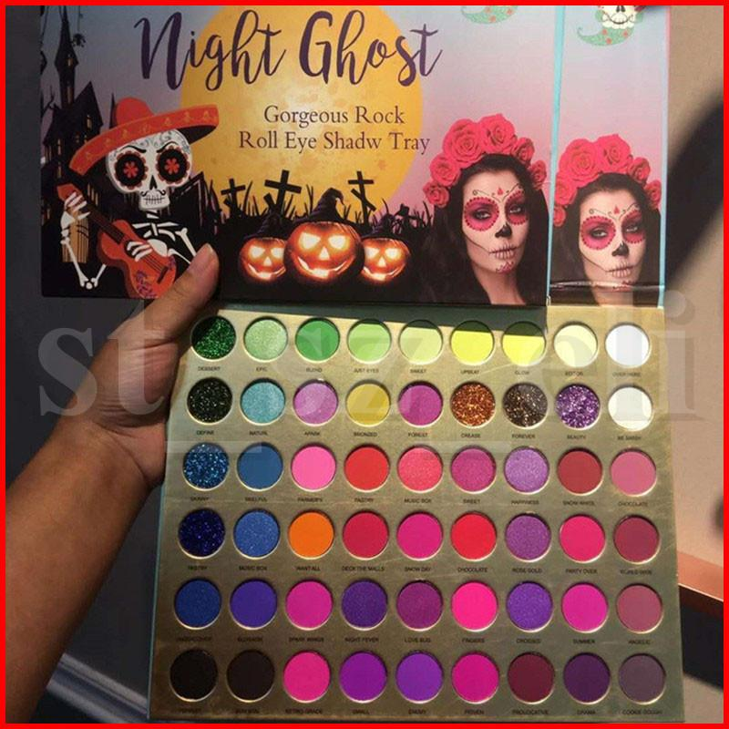Coco Urban 56 Colors Eye Makeup Eyeshadow Palette Night Ghost Eye shadow Matte Shimmer Glitter Gorgeous Rock Roll Eye Shadow Tray