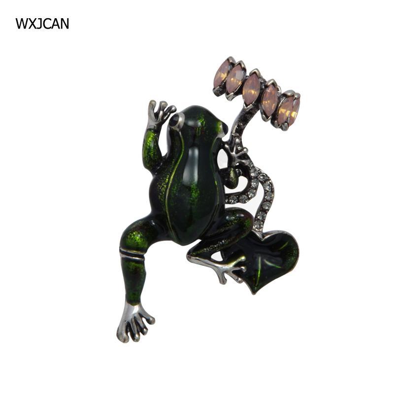 WXJCAN new animal enamel frog brooch vintage jewelry Size 55mm*35mm