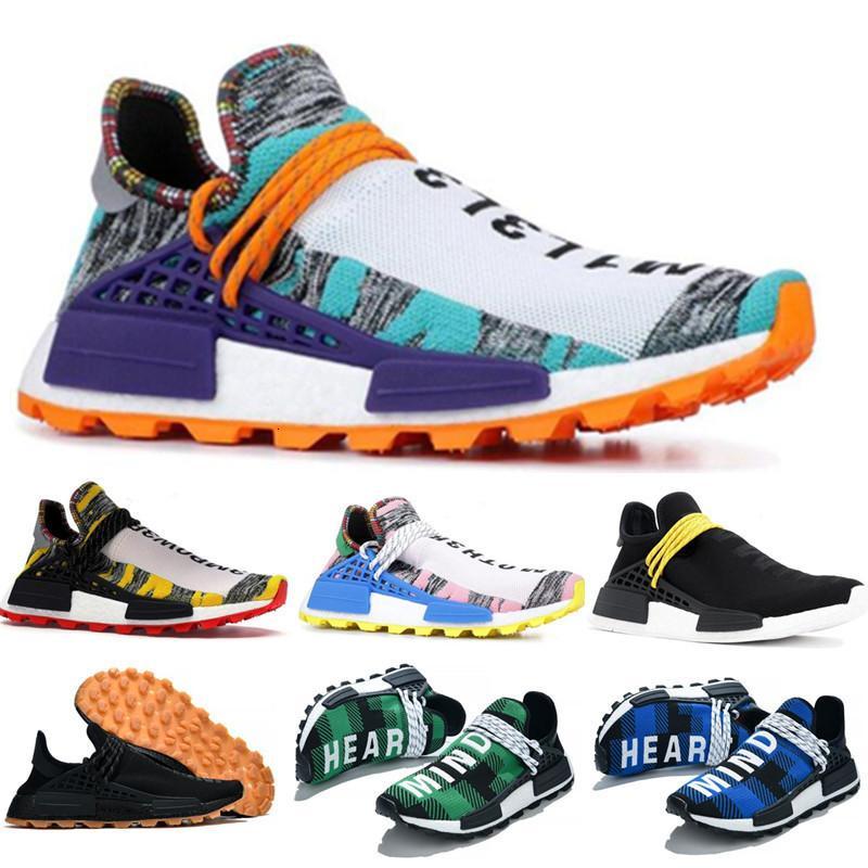 Pharrell Williams Sonsuz Türler bilir Soul GÜNEŞ CALM Güneş Paketi HU Öğ Kadınlar Sneakers Ayakkabı Koşu 2020 İnsan Irkı Erkek
