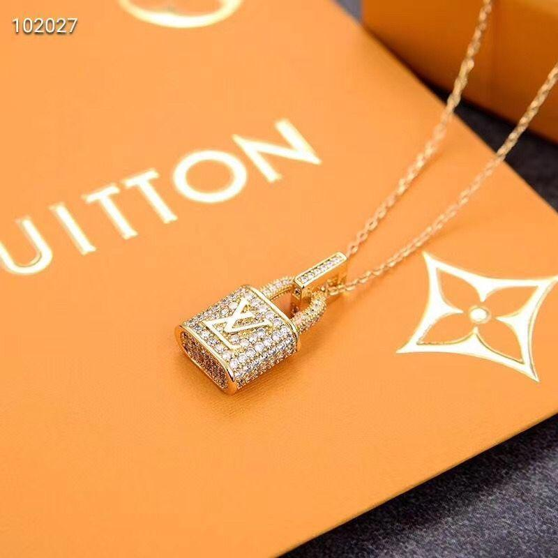 Top Paris Designer Goldene Lock-Schmuck Ohrringe Marke Diamant-Halskette bestes Geschenk für Liebhaber Mode Ohrstecker Hochzeit Schmuck mit Geschenk-Box