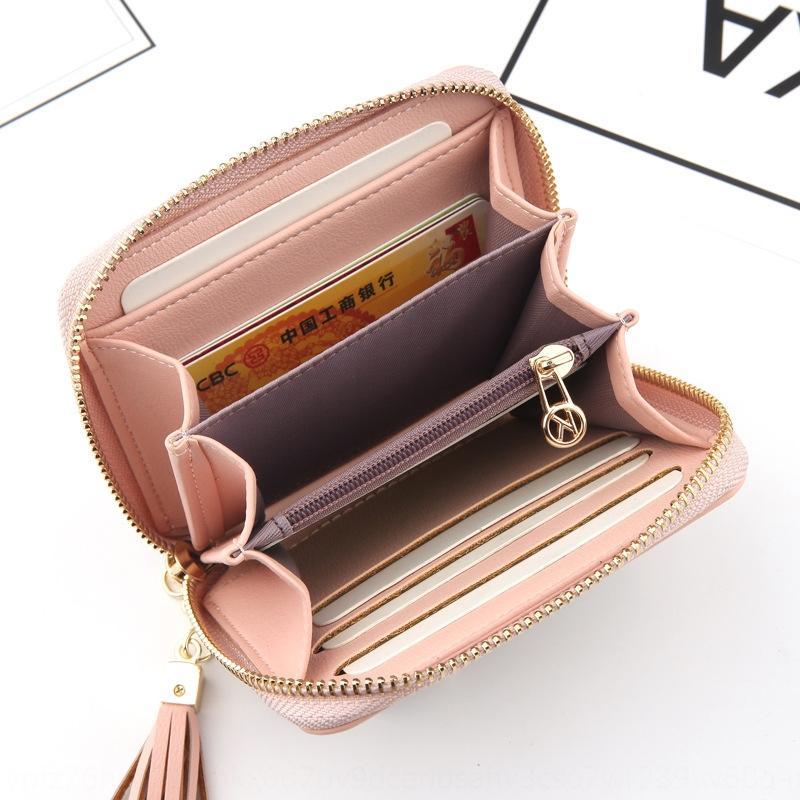 curta pequena bolsa quadrada moeda ocasional coreana da carteira bolsa carteira multi-cartão de borla saco xZvln pequeno cartão novas mulheres