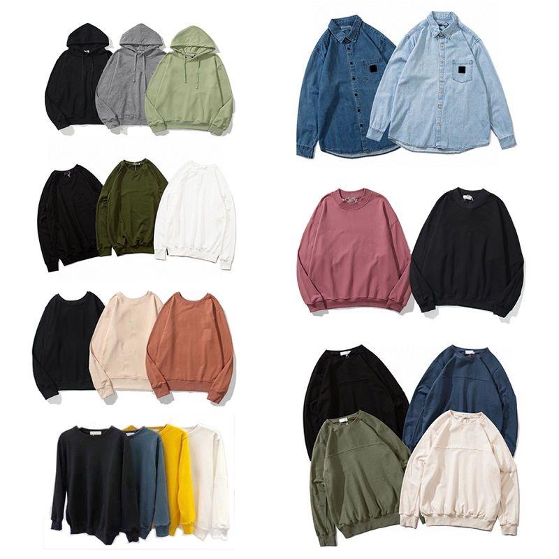 Neue Art und Weise Herbst-Winter-Männer 108 Langarm-Kapuzenshirt Hip Hop-Sweatshirts Mantel Jeans Casual Shirts 619/811/8815/2062/7006/9913