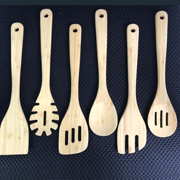 6 комплектов антипригарным бамбука шпатель ложки