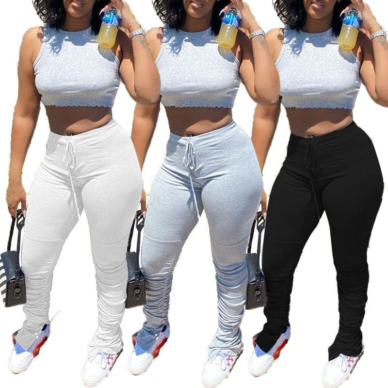Hot sale stacked leggings joggers stacked sweatpants women leggings pants femme pants fitness streetwear women trouser