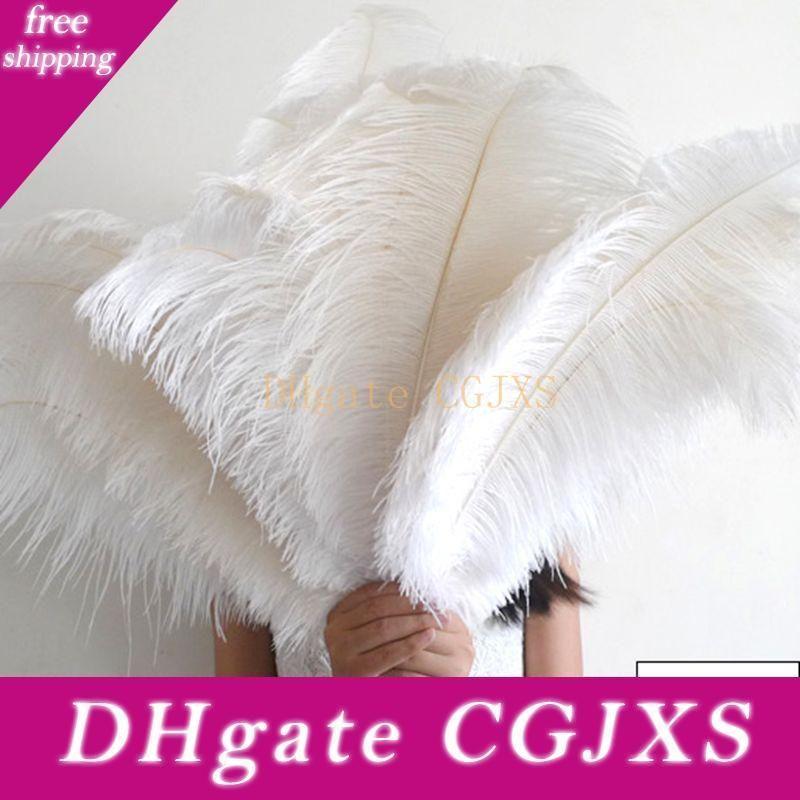 Ostrich Feathe chegam novas Decoração da tabela do casamento Centerpiece festa de casamento branca de penas de avestruz Ostrich Plume Decoração Centerpieces