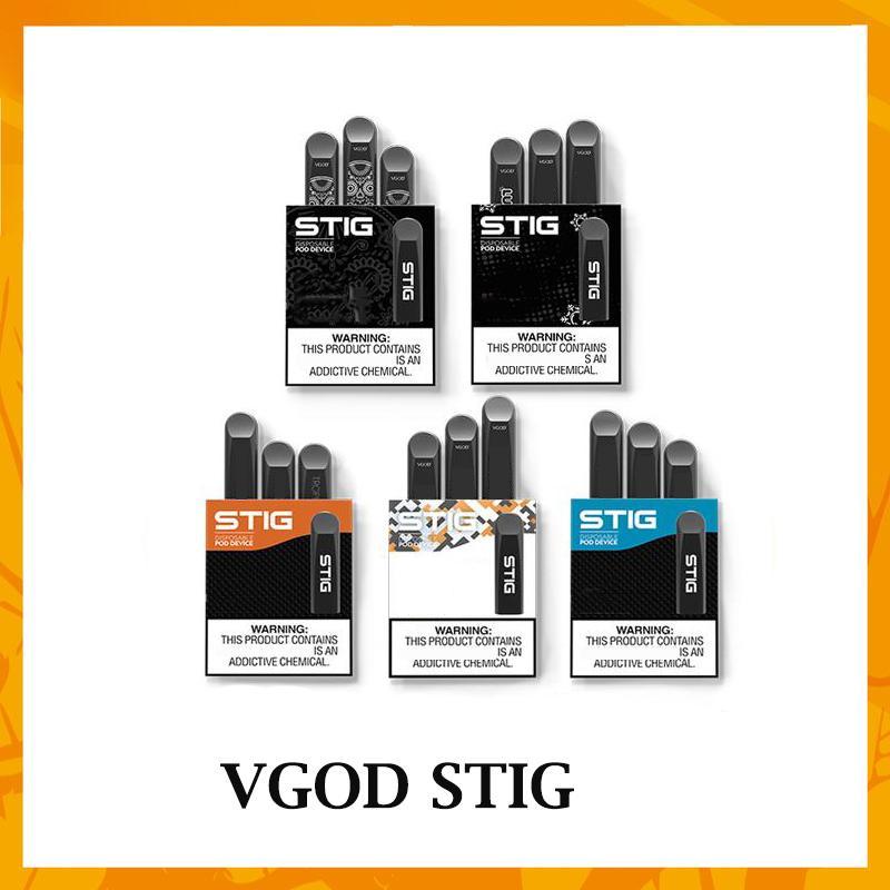 VGöD d'origine STIG à usage unique 5 couleurs VIDE La cartouche Vape Pen Kit-1 Pod appareil 3Pcs pack batterie 270mAh de