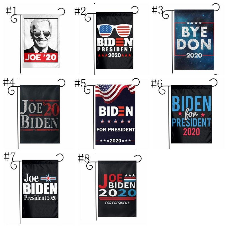 8 Arten Joe Biden Garden Flagge 2020 US-Präsidentschaftswahl Garten Flag Kampagne Bedarf 30 * 45cm biden Banner Flag YYA393 100pcs