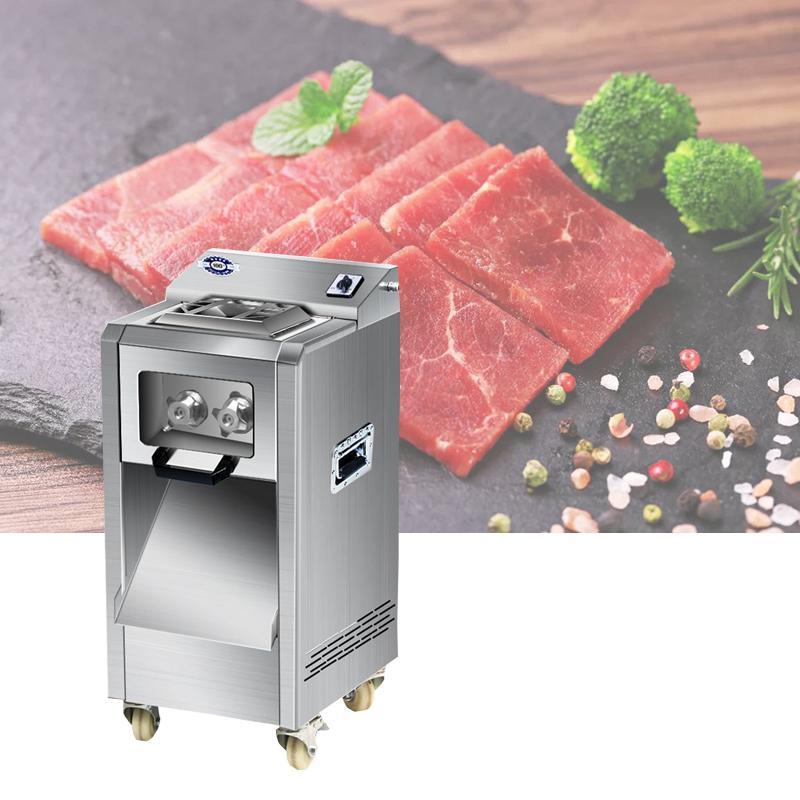 inox steelAutomatic électrique viande légumes coupe Grinder machine viande Slicer Meat Cutter