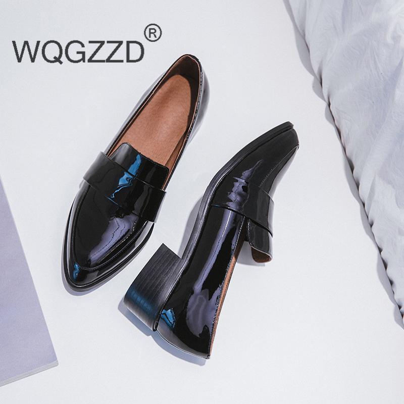 2020 Новый европейский стиль Оксфордские Туфли женские ботинки из натуральной кожи Chaussures Femme плоский женский Mujer Оксфорд