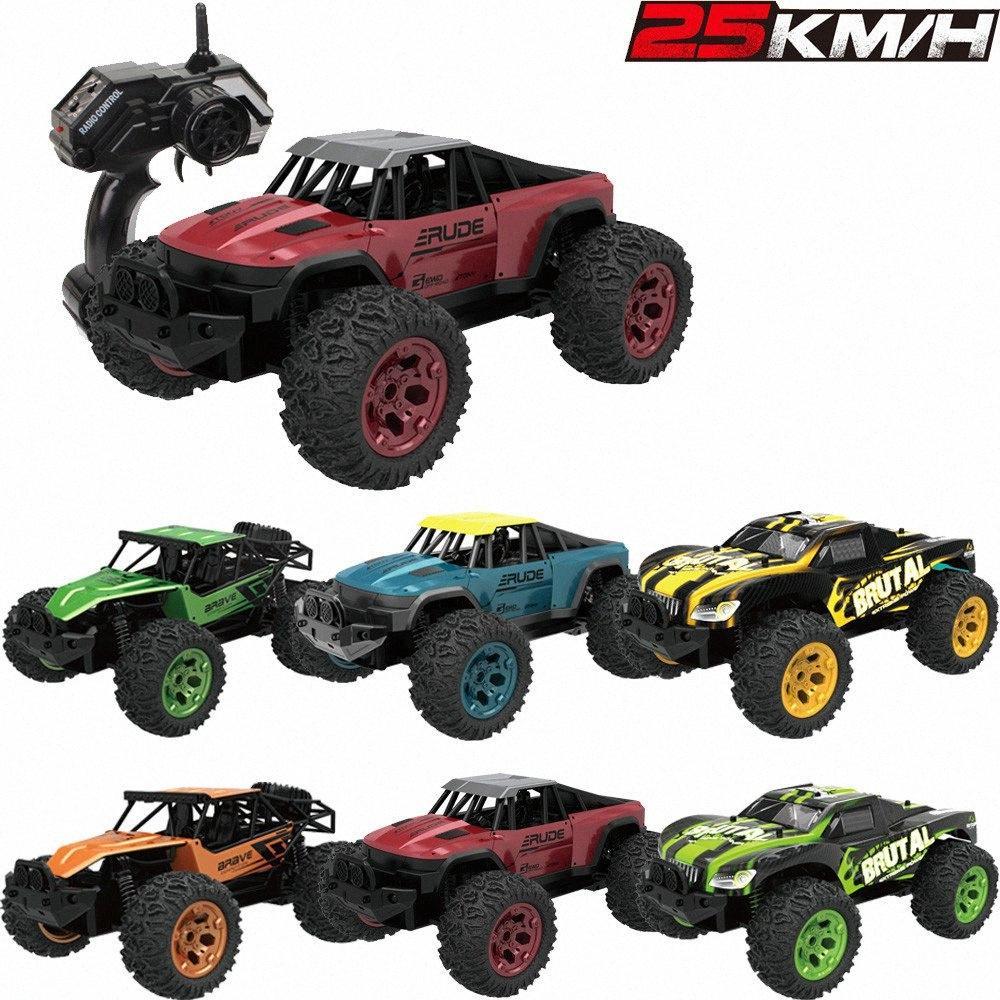 01:12 RC Cars 25 KM / H carreras de alta velocidad del coche 2.4G RTR 2WD Monster Truck RC Drift Off Road coche teledirigido Voiture Telecommande W3lN #