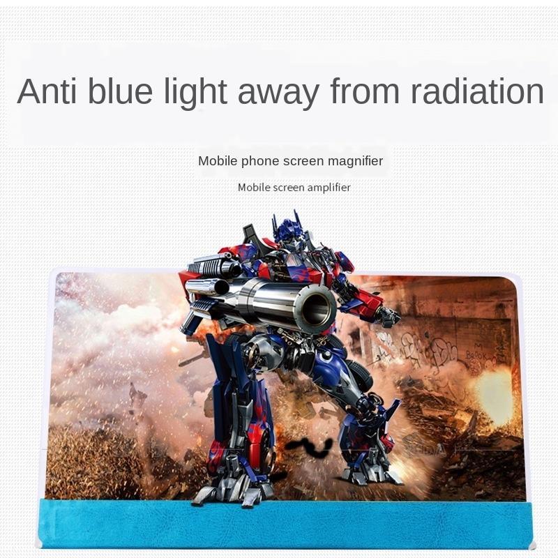 Chuda diámetro de 12 pulgadas gran teléfono KTt1h 3D amplificador de manos anti-azul pantalla de luz de la pantalla phonemobile phonebig liberación perezoso móvil p VnSmK