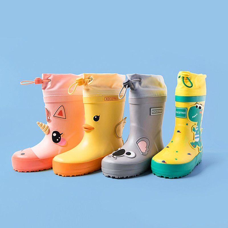 ULKNN Children Rain Boots Kids Girl