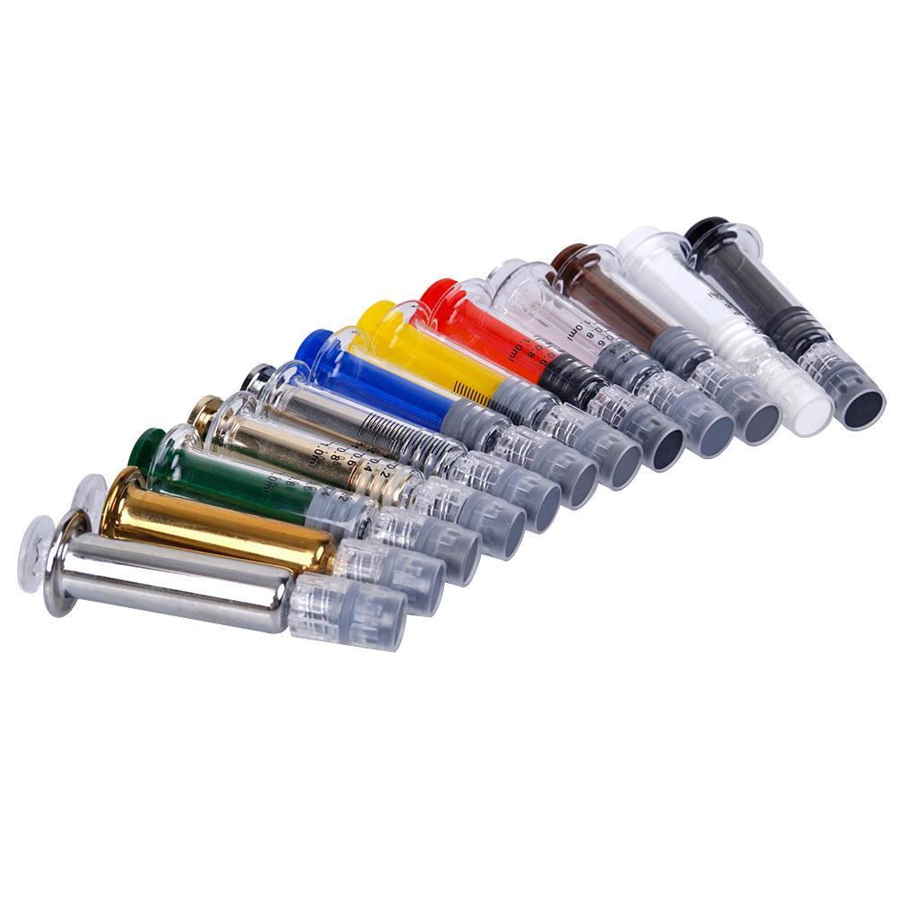 1 ml Luer Lock capo Injuector vetro Siringhe con misurazione Mark monouso Vape Carrelli Concentrete olio di riempimento strumento con la scatola