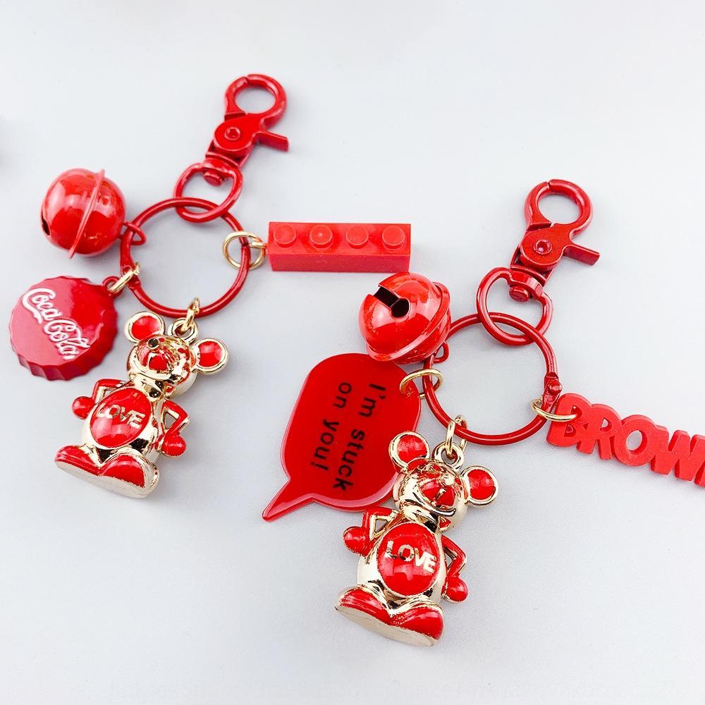 kleines Geschenk Geschenk gute luckcute Schlüsselanhänger Karikatur Dreidimensionales weichen Gummi-Anhänger Damen-Beutelanhänger