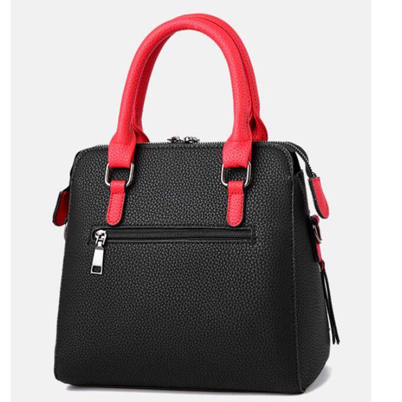 PU-Leder-Frauen-Kurier-Beutel-Pelz-Kugel Umhängetasche Flap Bag weibliche Umhängetasche Solid Color Handtaschen