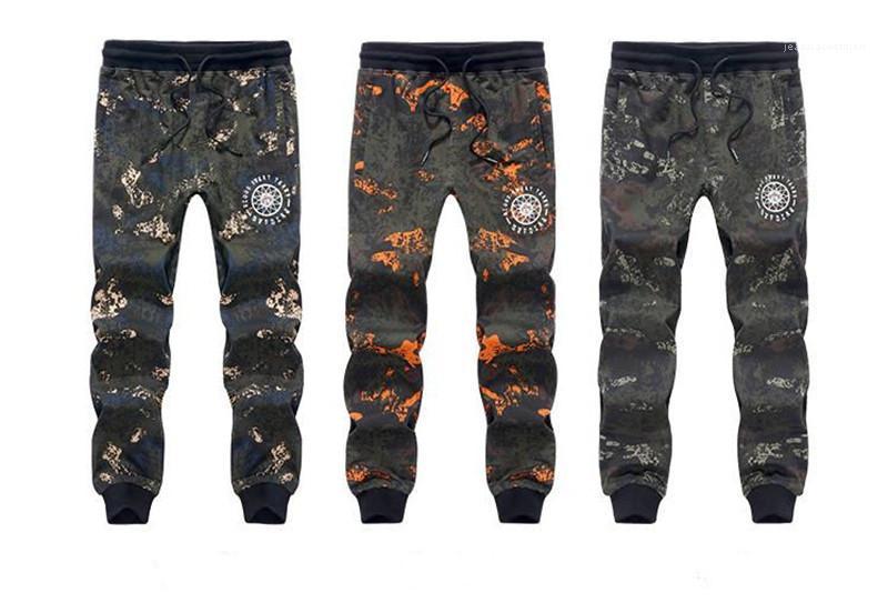 Pantalon imprimé Mode en vrac Sportpants Printemps Pantalon Jogger Casual Male Plus Size Vêtements Designer Hommes camouflage