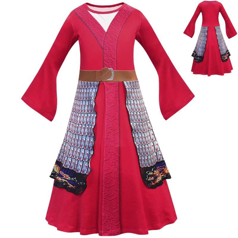 2020 Hua Mulan Cosplay Dress Hua Mulan Costumes Fancy Chinese Heroine Girl Dress Halloween Costume Children Party Vestidos From Friendhi 24 66 Dhgate Com