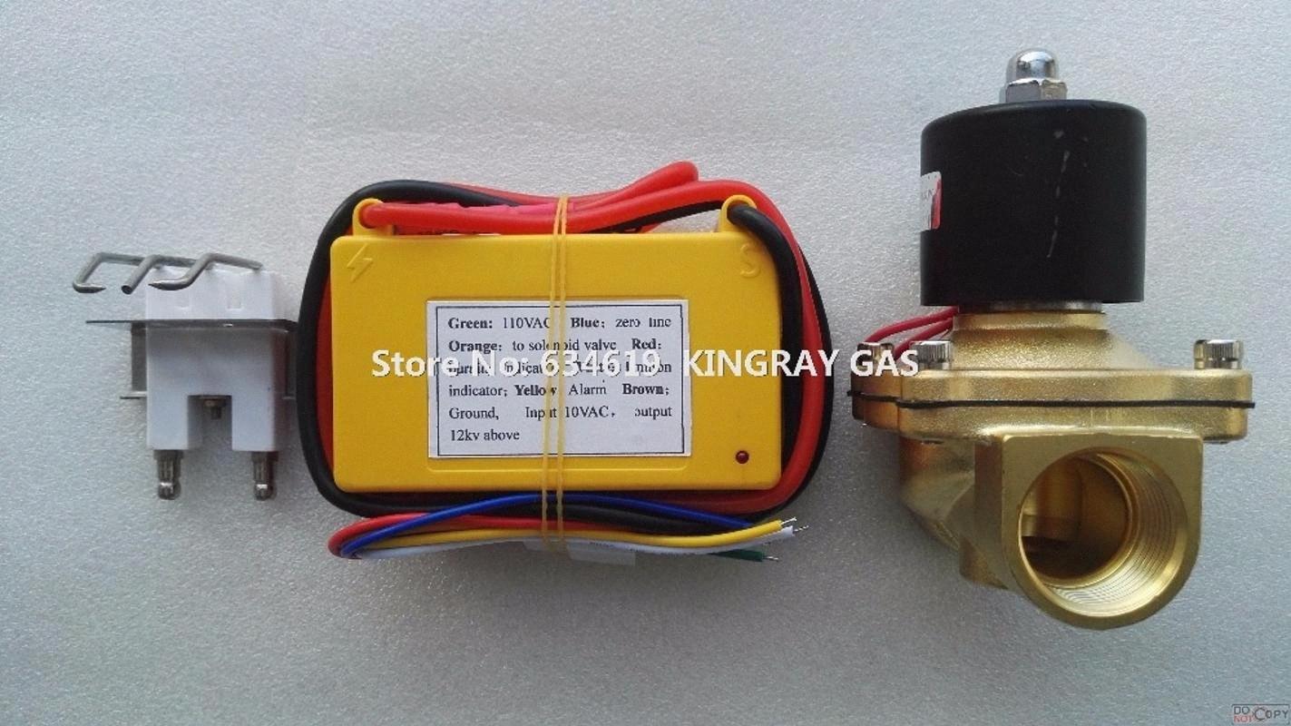 "Voller Satz 110VAC 1"" Magnetgasgrill Zündkontroller heißen Verkauf Gasofen Zündgerät Elektrobrenner Beleuchtungssteuerung NJFR #"
