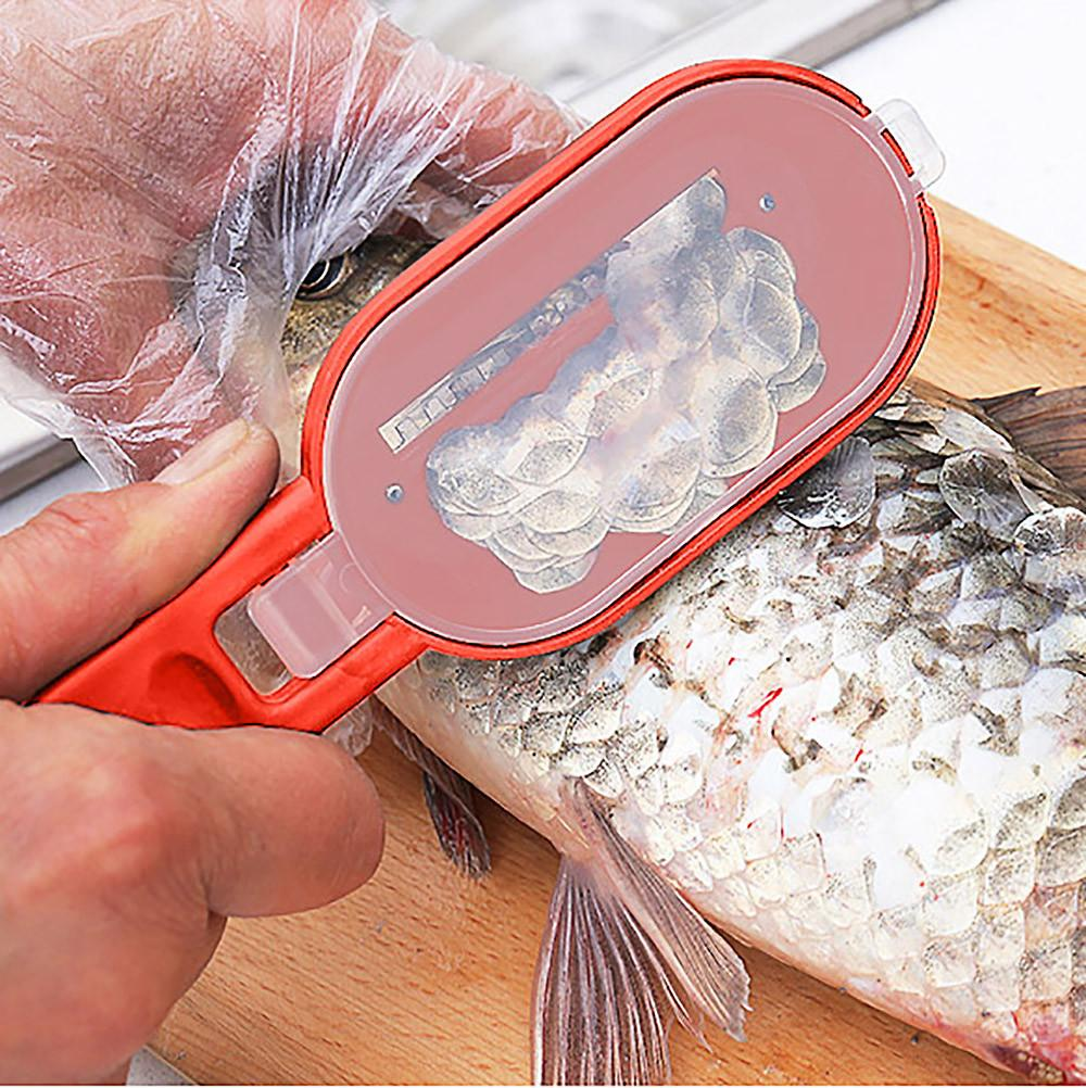 New Practical Fish Scale Remover Scaler Scraper Cleaner Kitchen Tool Peeler Seafood Fishing Skin Knife Tools Kitchen Gadgets