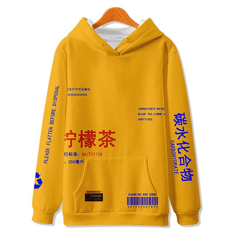 Sweats à capuche pour hommes Sweatshirts Wamni Citron Pull en polaire imprimé Hommes / Femmes Casual Streetwear Streetwear Hip Hip Hop HiP Harajuku Haut Haut