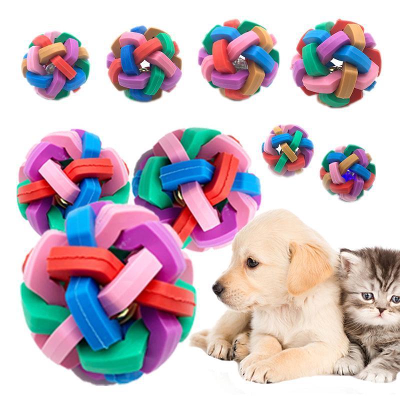 Dent de chien de chat Toy Cleaner balle Crier Fash balle Interactive Jouer Chewing Rattle Scratch train Funny Voice Bells jouets