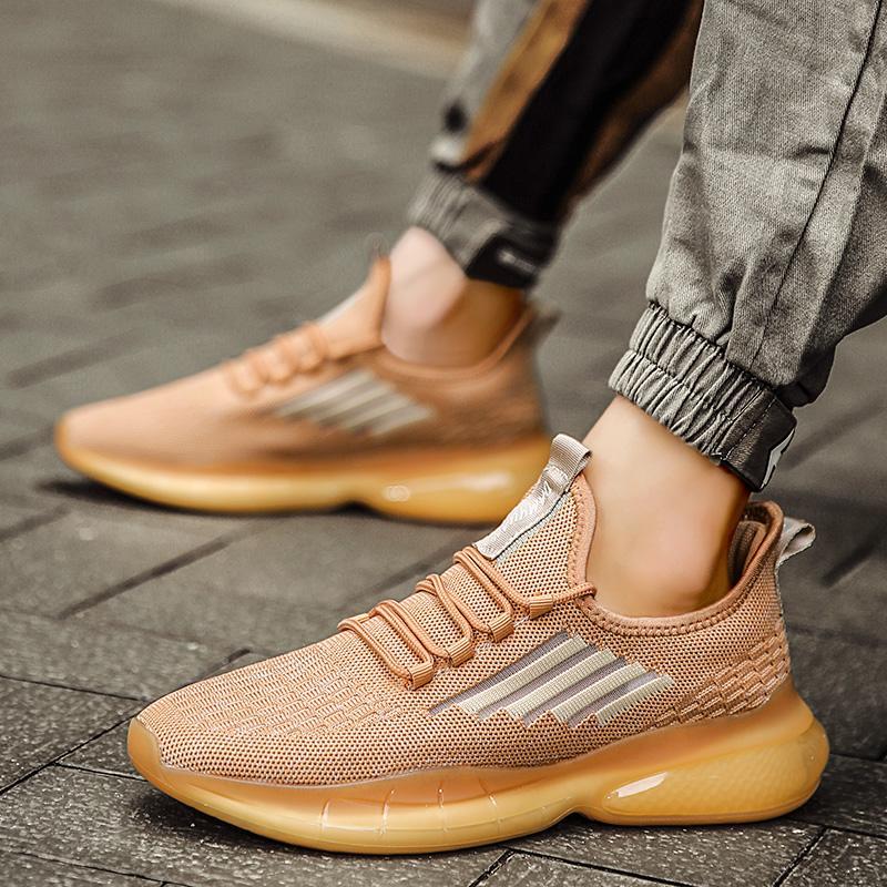 Мода Классических сеток Мужчина повседневной обувь высокого качества кроссовки удобных мужчины обувь дышащая сетка спортивная шнуровка Мужчина для