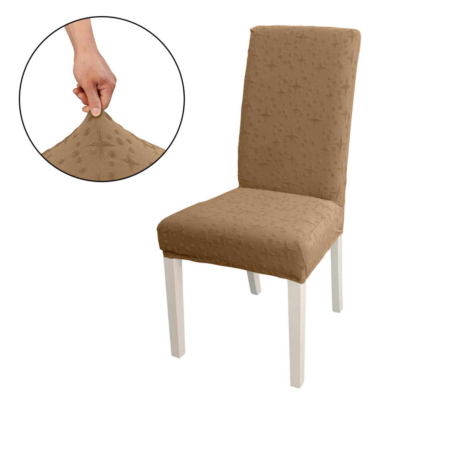 DiningChairSlipcover, HighStretchRemovableChairCoverWashableChairSeatProtectorCover, JacquardPattern, ChairCoverSlipcoverforHomePartyHotel