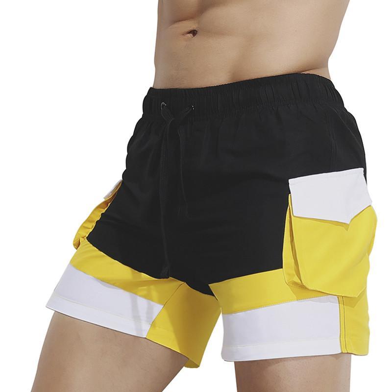 Мужские шорты пляже летом шорты Купальники Мужчины Boardshorts Man боксёры Bermuda Купальник Быстрый сухой размер XXL