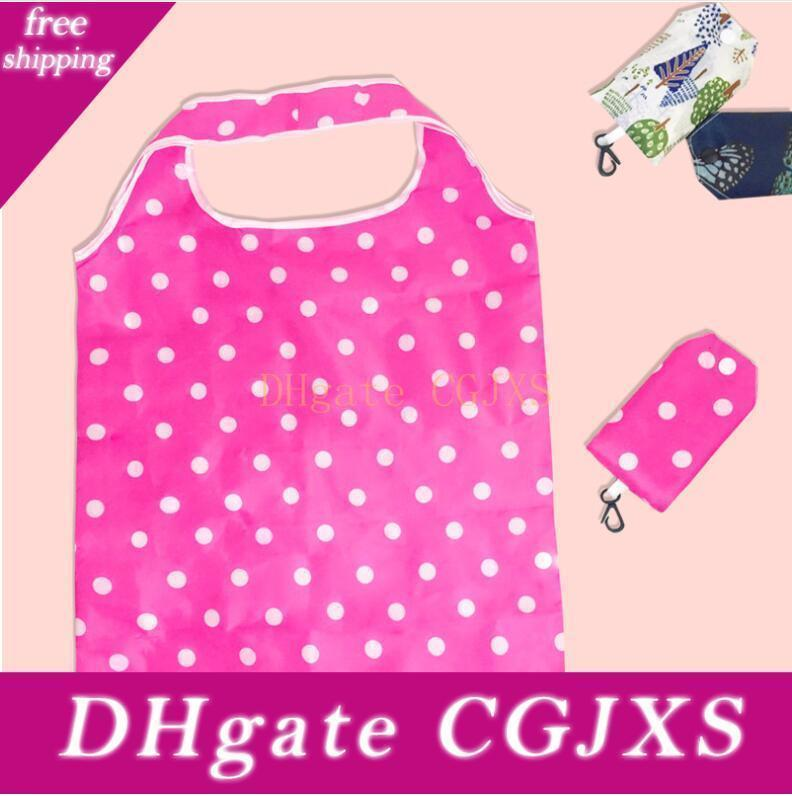 Women Foldable Shopping Bag Reusable Floral Large Capacity Oxford Cloth Casual