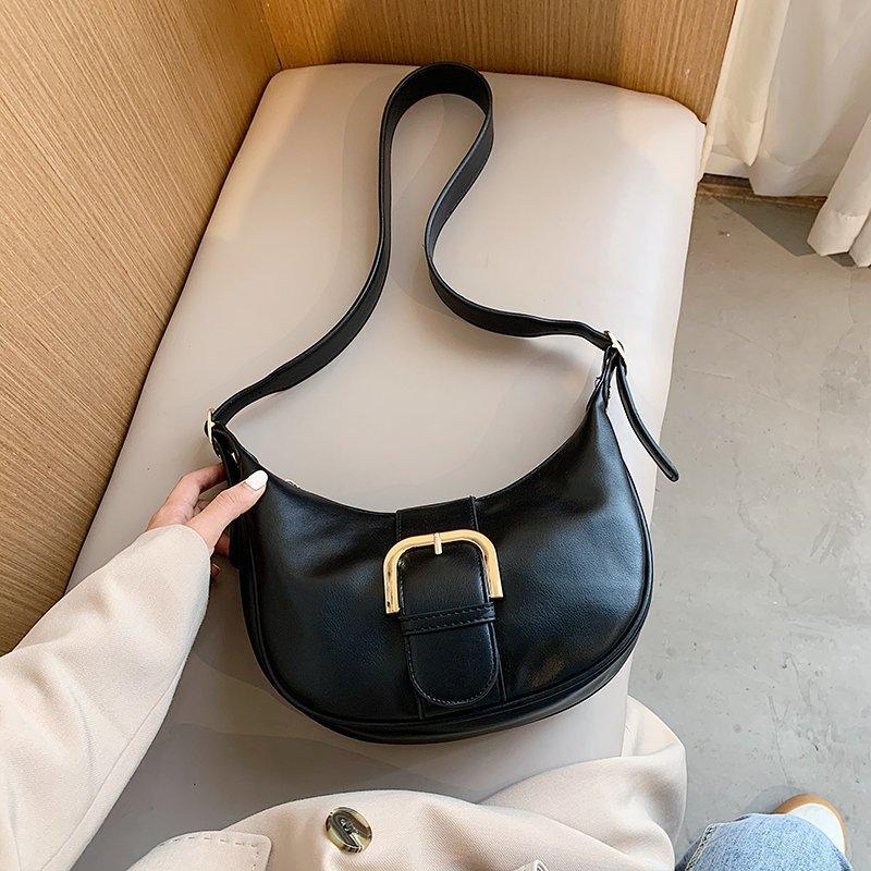 Bolsos de diseño de diseño Crossbody Bolso PU 2020 Hebilla para bolsas de cuero Mujeres Cadena simple Señoras Viajes Hombro Hombro Mano Bqqtm