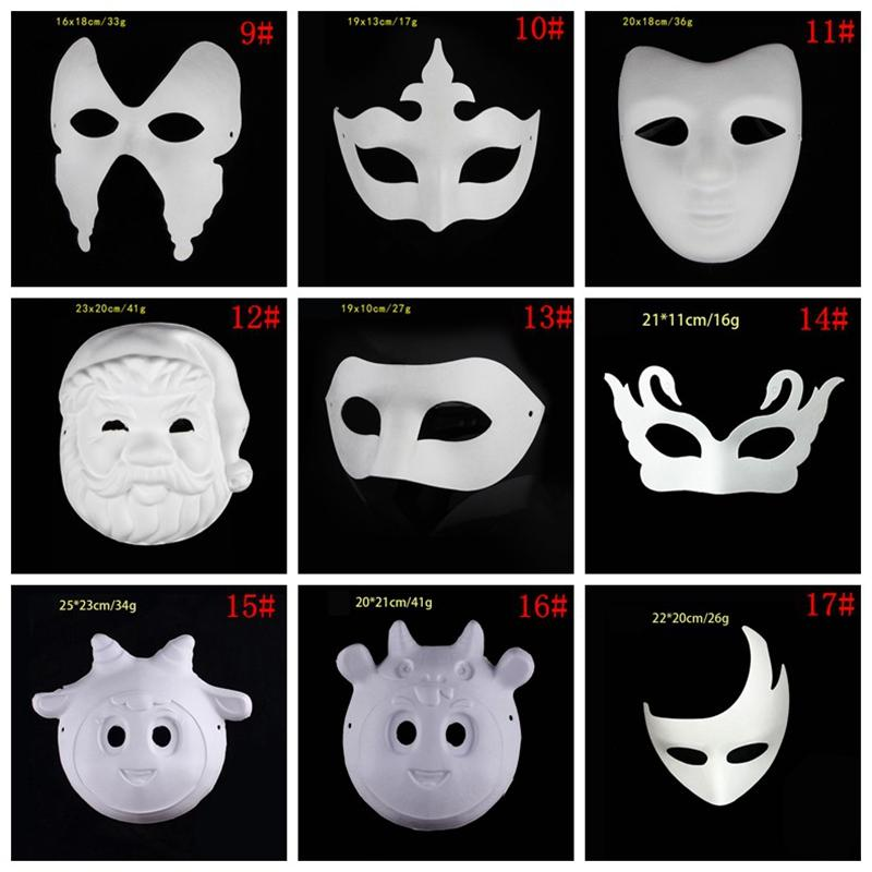 Cadılar Bayramı Beyaz Yüz Zorro Taç Kelebek Boş Kağıt Masquerade Partisi Cosplay Maskesi DBC BH3980 Maskesi Boyalı En DIY Maske El