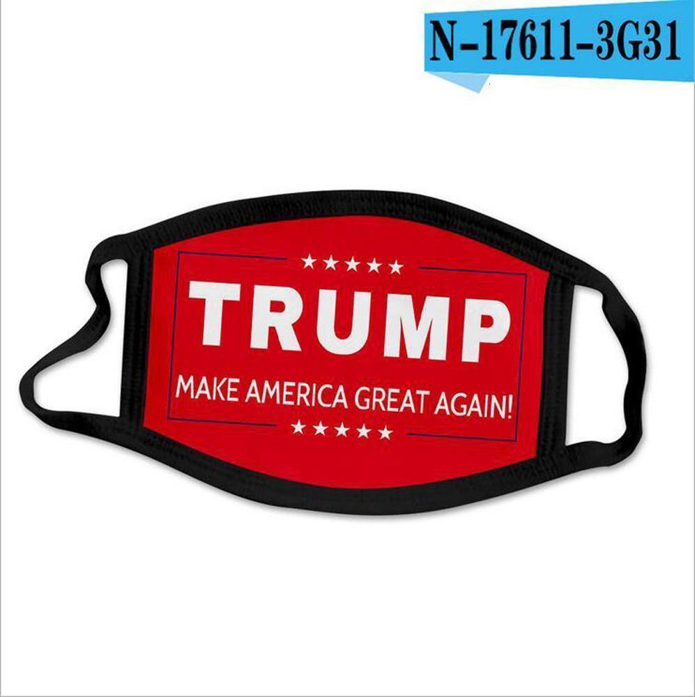Nuovi Stati cotone lavabile Uniti Usa americano anti-polvere Mask Trump Nero Adulto Donald Bocca Elezione stili divertenti 44 2 Cgrfto