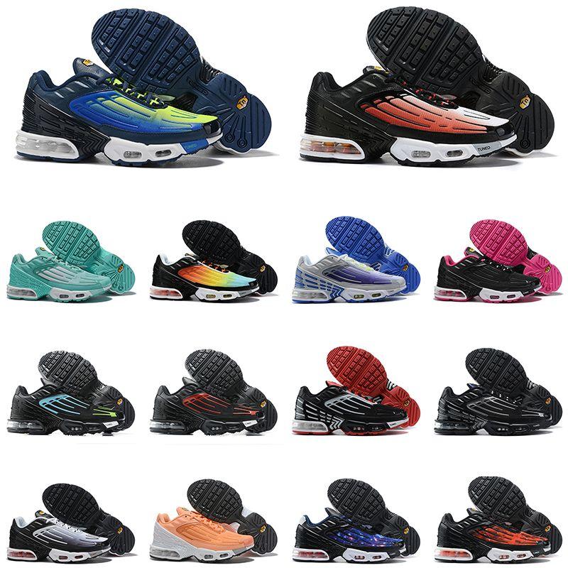 TN mais 3 III mens shoped shoes ao ar livre hyper pára-quedas roxo homens mulheres sneakers sneakers instrutor mens