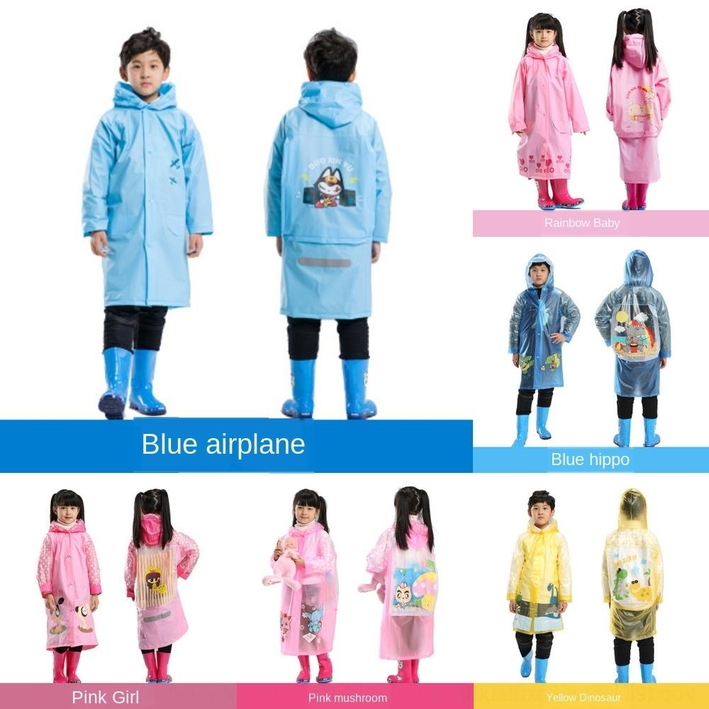 bambini 77mj1 Moda singolo sacchetto Mantello mantello fumetto creativo un pezzo impermeabile per bambini con zainetto impermeabile poncho impermeabile