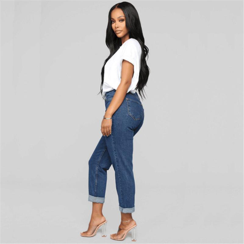Lo nuevo pantalones llegadas manera caliente de las mujeres de señora Denim flaco alto estiramiento de la cintura de los pantalones vaqueros delgado del lápiz de los pantalones vaqueros de las mujeres pantalones vaqueros ocasionales # a3