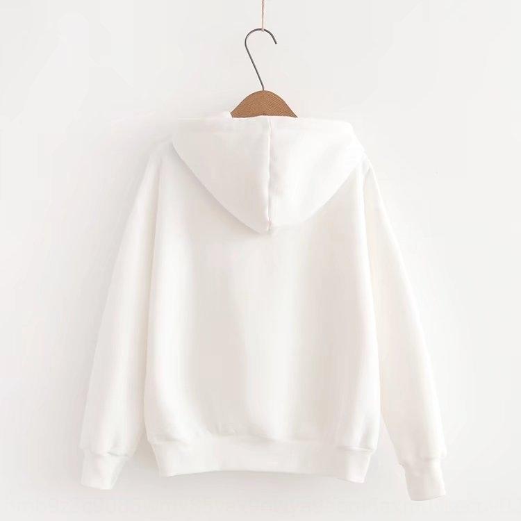 PJd1M LnuJQ camisola e estilo Top grande camisola das mulheres coreano inverno soltas engrossado com capuz Outono bordados fita top bordado tamanho lo