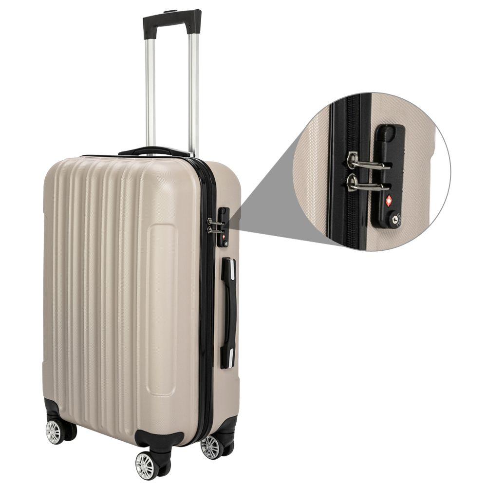 New- Shipping Wheeled 3-in-1 Multifunctional Large Capacity Traveling Storage Suitcase Gray