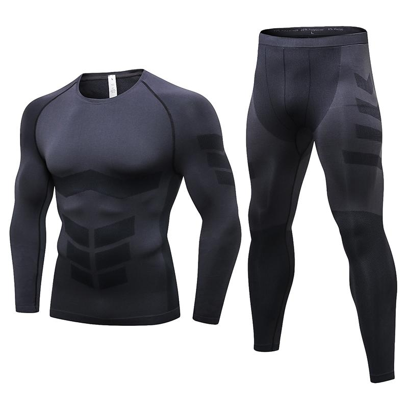 Fanceey Anti microbial Winter Thermo Underwear Thermal Men Long Johns Thermal Clothing Rashgard Kit Long Compression Underwear CX200817