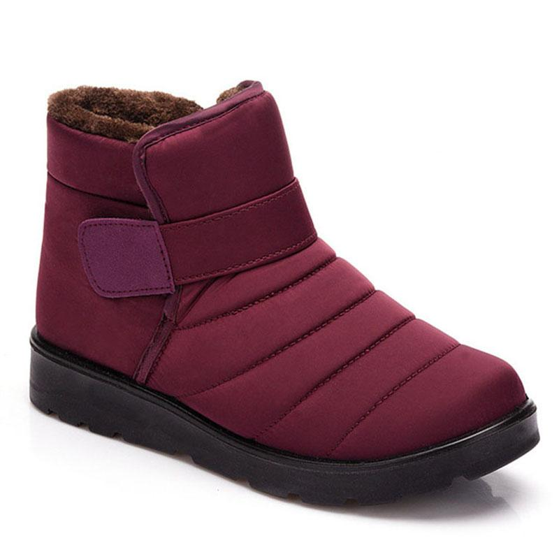 Kadınlar için su geçirmez Kış Boots Fur Peluş Kış Boots Kar Lover Kadın Ayakkabı Botaş Hombre Artı Boyutu 48 Isınma
