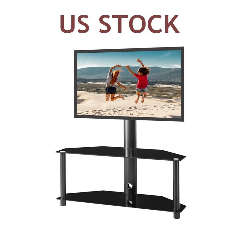 Много наличия Высококачественные регулируемые многофункциональные закаленные стекла металлическая рама напольная телевизора ЖК-телевизор кронштейн плазменный кронштейн W24104948