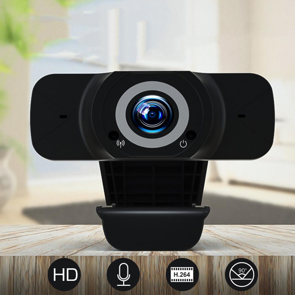 1080P cámara webcam con micrófono web USB para PC portátil videollamadas de grabación