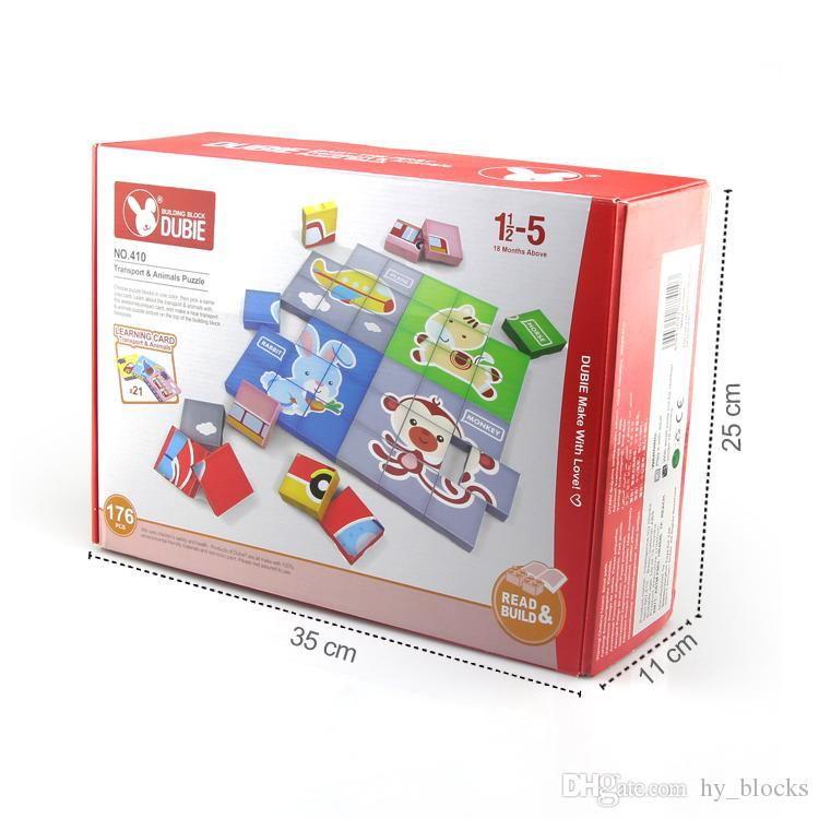 176pcs bambino traffico particella elementare formazione iniziale di puzzle Animal Jigsaw Puzzle giocattolo per il regalo intelligenza dei capretti di cartoni animati 05