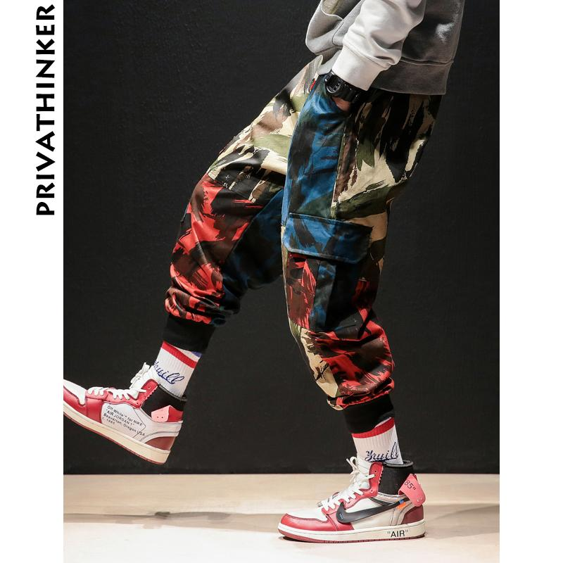 INS Камуфляж Мужчина штаны 2020 Hip Hop Streetwear Man бегуны Брюк Японские Мужской Повседневный Sweatpants Плюс Размер